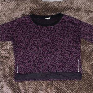 Eyeshadow Purple and Black animal print top